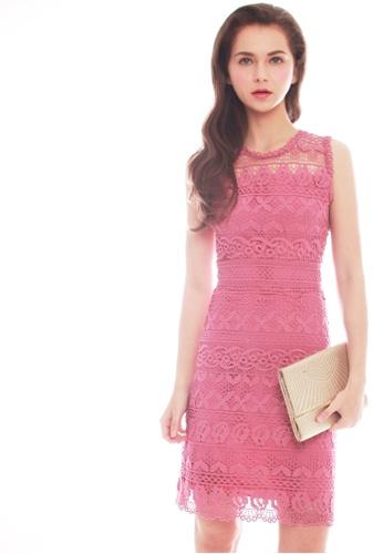 JOVET pink Sleeveless Lace Dress 2A2FCAA12F48A9GS_1