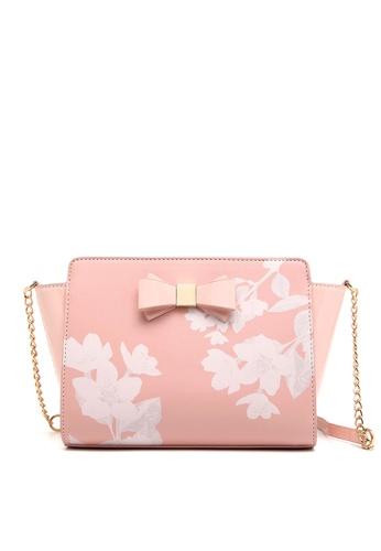 f8936d62a364 Fancy Rosy pink Fancy Romance Flower Shoulder Bag CD83DACD12DDAAGS 1