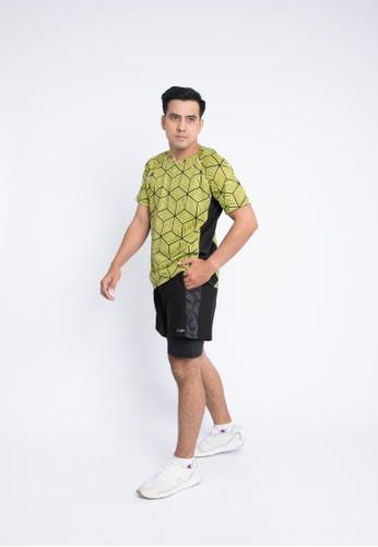 Trijee black and yellow Trijee Men Short Sleeve Tee Halu Series 4 Sook Yellow 5E884AA876EBBFGS_1