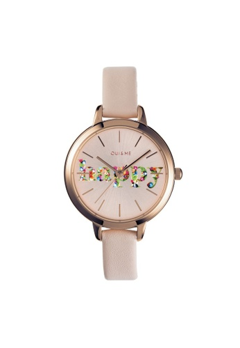 Oui & Me gold OUI&ME Petite Fleurette Quartz Watch Roase Gold Leather Strap ME010009 33568ACA00FD91GS_1
