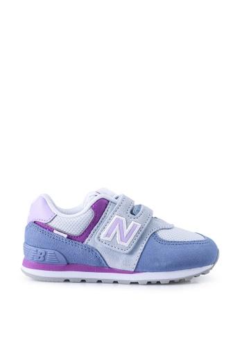 New Balance blue 574 Infant Lifestyle Shoes FF94EKSA9EB720GS_1
