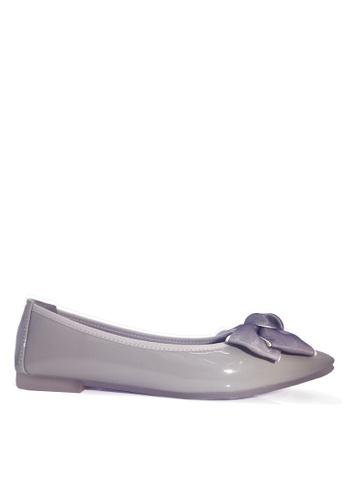 Twenty Eight Shoes 灰色 舒適雙色蝴蝶平底鞋 VL266108 24137SHA40B934GS_1