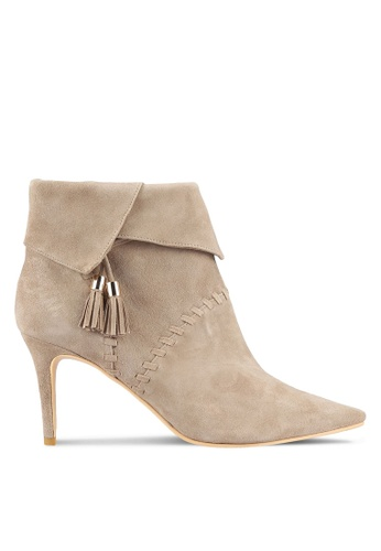 House of Avenues beige Suede Ankle Boots HO685SH0RRC9MY_1