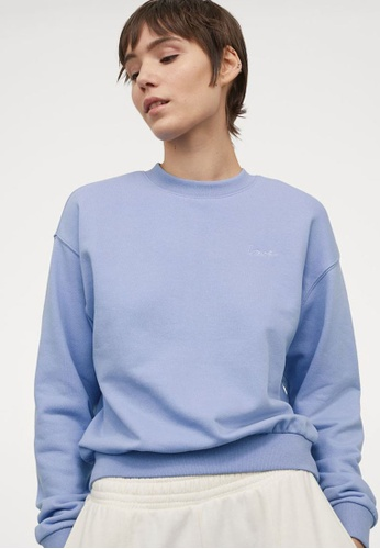 H&M purple Embroidered Sweatshirt 02766AA2ABB962GS_1