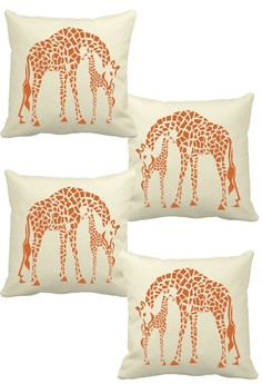 Sew Fab Mother and Calf Throw Pillow Covers Set of 4