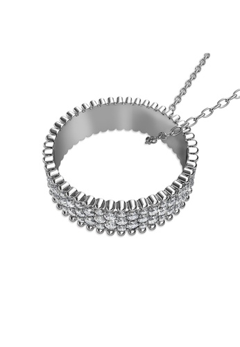 Her Jewellery silver and gold Alexis Pendant (White Gold) - Made with premium grade crystals from Austria DBDB5AC45B6711GS_1