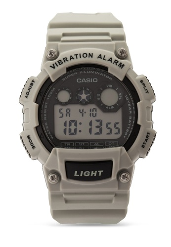 Casio grey Casio Men Collection Light Grey Resin Strap Watch CA843AC24VJBMY_1