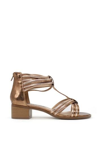 London Rag brown Women's Heel Sandals C5668SH1A78178GS_1