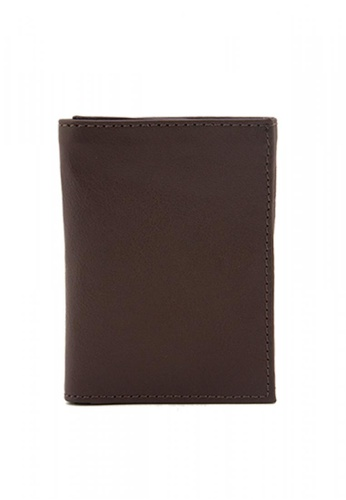 The Tannery Manila brown Smith Leather Milled Trifold Wallet 13B79AC161C9B2GS_1