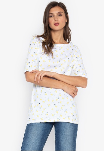 MARKS & SPENCER white Pure Cotton Printed Half Sleeve T-Shirt 119F2AA26862B9GS_1