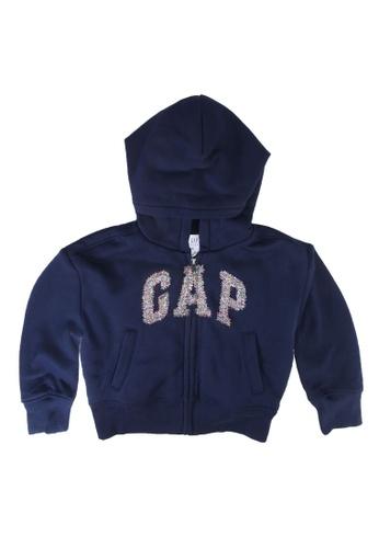 GAP navy Cozy Arch Hoodie 92236KA8A5D226GS_1