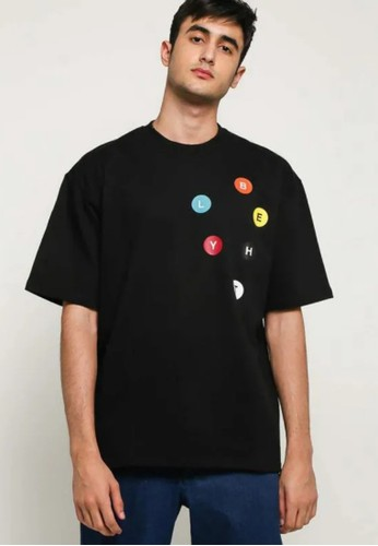 BLYTHÉ black Issue Bostyn Top T-Shirt Kaos Pria DB5D6AA861FBB0GS_1