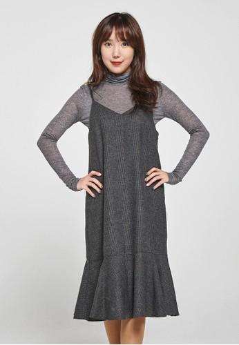 韓流時尚 格子魚尾esprit香港門市裙  F4053, 服飾, 洋裝