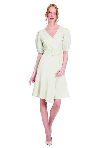 Theory Of Mine pink and brown and beige Gabby Dress B9514AAAAA545CGS_1