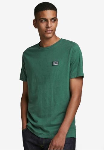 Jack & Jones green Short Sleeves Crew Neck Tee ADC9BAA39AA6A2GS_1