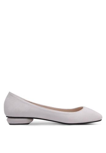 ZALORA grey Ballerina Flats 101F4SH30BBE50GS_1