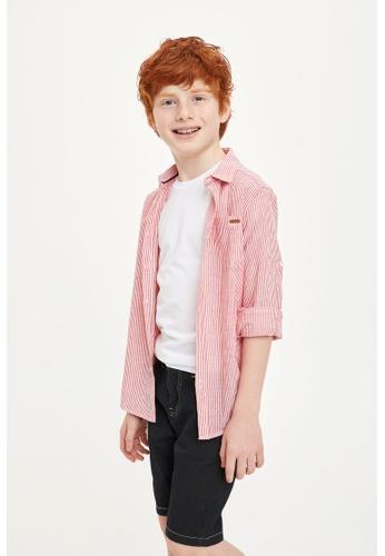 DeFacto red Long Sleeve Cotton Shirt 1D8F7KA4F78FDEGS_1