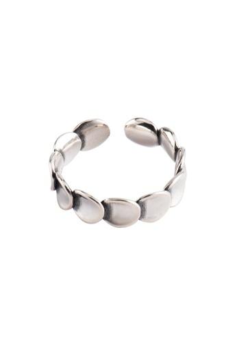 OrBeing 白色 Premium S925 Sliver Geometric Ring 4F1B8ACA82A606GS_1
