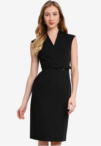 Dorothy Perkins black Black Tab Detail Dress 7E1CFAA0A790BDGS_1