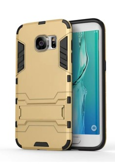 Hybrid Armor Defender Case with Stand for Samsung Galaxy S7 Edge