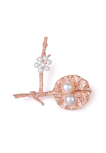 A.Excellence pink Premium Pink Pearl brooch C107AAC77976D5GS_1