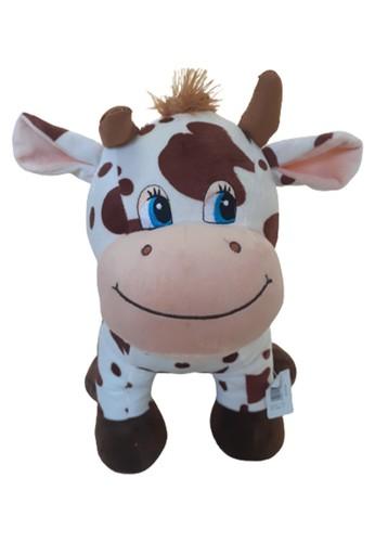 J&J brown Standing Cow With Sound, Boneka Sapi Berdiri dengan Suara Ukuran L 5C0F5THBEA2DFEGS_1
