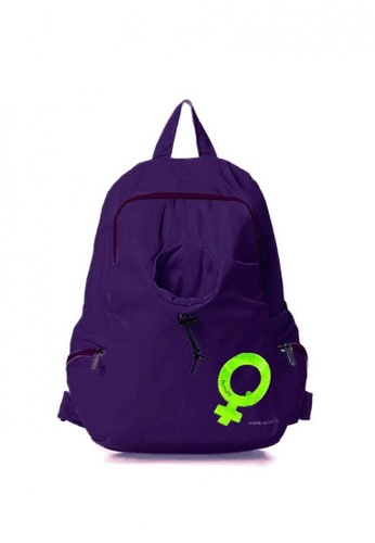 Lucky JX purple Wil Nylon Water Resistant Travel Backpack 63BF5ACF9ED133GS_1