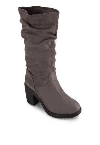 Vesta 粗跟高跟中筒靴, 女鞋, 靴esprit門市子