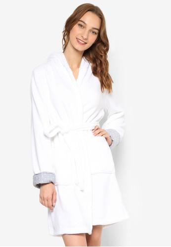 雙口袋毛巾布連帽睡袍, 服esprit hk分店飾, 服飾