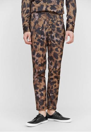 Life8 brown Life8 x Daniel Wong Leopard Print Pants-03655-Brown LI283AA65HWSSG_1