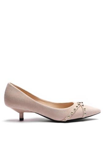 Twenty Eight Shoes Stub Suede Fabric Mid Heel 296-2 CC011SH9C2DAC6GS_1