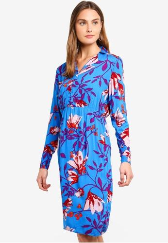 Pieces blue Rinna Midi Dress 091ADAAFA2934DGS_1