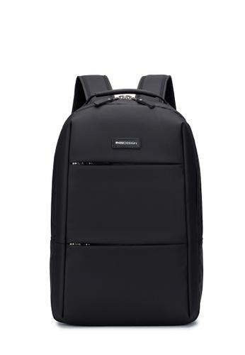 "ENZODESIGN ENZODESIGN Surface Coated Nylon Light Weight 16"" Laptop Business Backpack 0732DAC9E344DBGS_1"