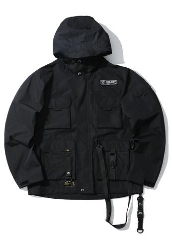 izzue black Multi pocket jacket A525DAAC000691GS_1