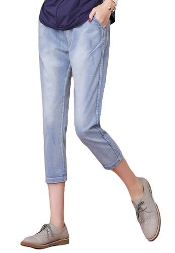 A-IN GIRLS blue New Elastic Waist Elastic Jeans 40EEAAAD989EA6GS_1