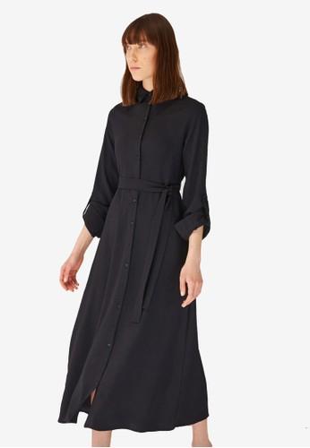 Trendyol black Black Midi Shirt Dress 5AE6CAAEEB49E5GS_1