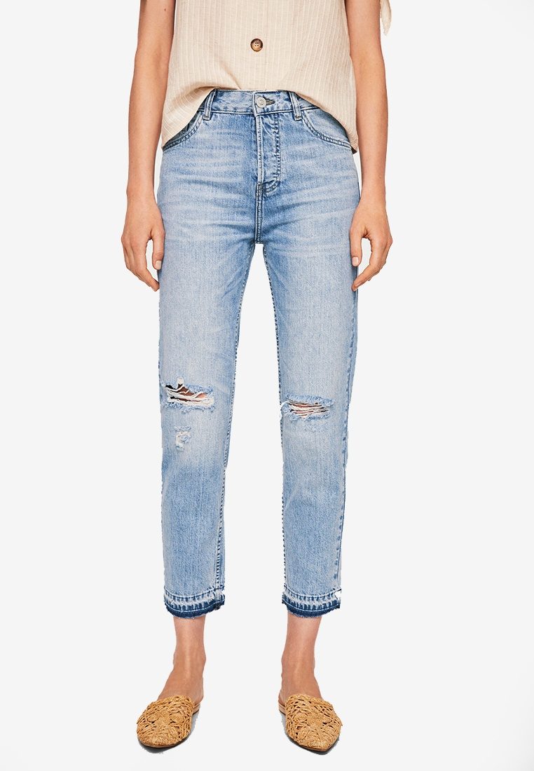 Jeans Open Mango Relaxed Mom Blue qwqt6ETgxy