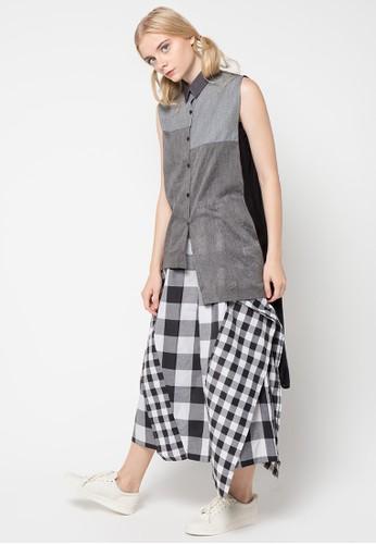 MONDAY TO SUNDAY black and grey Nami Shirt MO145AA71USUID_1