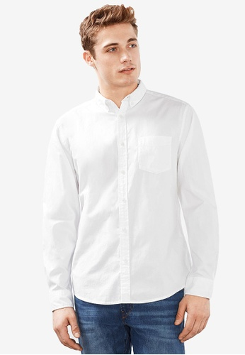ESPRIT white Woven Long Sleeve Shirt ES374AA19LJOMY_1