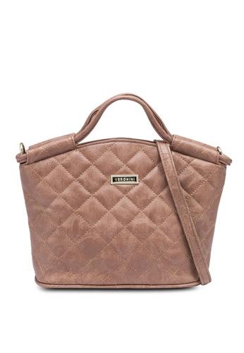 Verchini brown Elegant Top Handle Handbag A3F99AC3BA9383GS_1