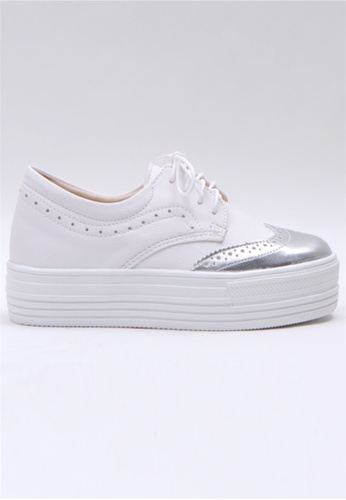 36757136dd0 Crystal Korea Fashion silver Korean Made Versatile Platform Casual Shoes  DC9E7SH2DC8BFDGS 1