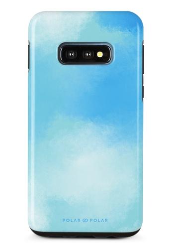 Polar Polar blue Clouds in Spring Samsung Galaxy S10E Dual-Layer Protective Phone Case (Glossy) A13B6AC1621EEDGS_1
