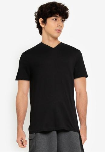 OVS black Solid Colour T-Shirt C0A31AAC0E858CGS_1