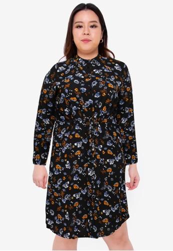 Only CARMAKOMA black Plus Size Arma Long Sleeve Dress 1C853AA31CA313GS_1