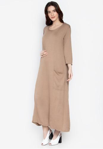 591d4a563f3df Shop Amelia Maternity Dress - Lia Online on ZALORA Philippines