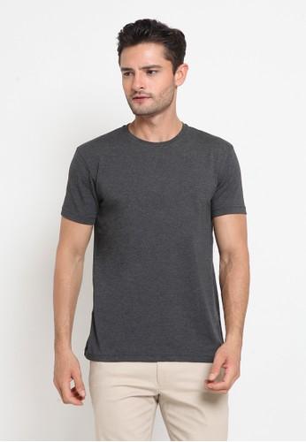 The Executive grey Basic Round T-Shirt 26654AAF800D34GS_1