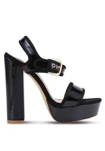 Buy Nose Duo Tone Platform Chunky Heel Sandals Online | ZALORA ...