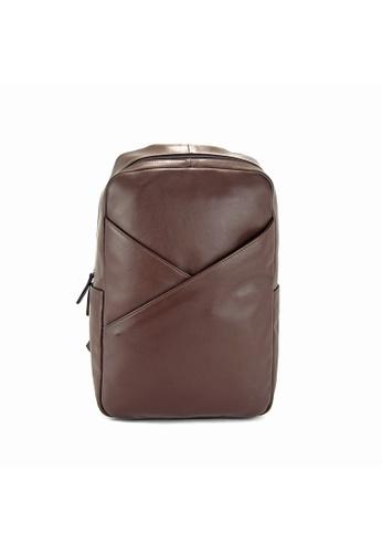Alef brown Madrid Sleek Backpack 86265ACFF583A9GS_1