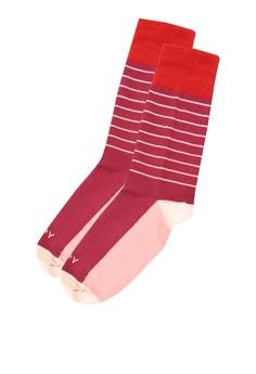 Lines Rose Socks
