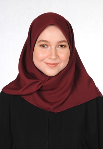 Bait Al Hijaab red SQUARE SCARF WARDAH 13024AA6233B10GS_1